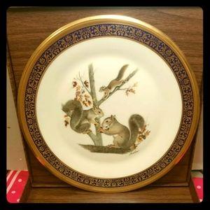 1979 Lenox Woodland Wildlife Squirrels Plate colle